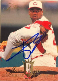 Jose Rijo Signed 1994 Flair Baseball Card - Cincinnati Reds