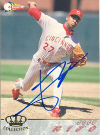 Jose Rijo Signed 1994 Pacific Crown Baseball Card - Cincinnati Reds