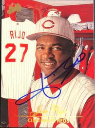 Jose Rijo Signed 1994 Studio Baseball Card - Cincinnati Reds