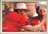 Jose Rijo Signed 1995 Collectors Choice Silver Signature Baseball Card - Cincinnati Reds