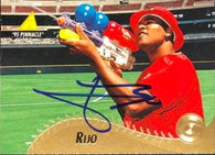 Jose Rijo Signed 1995 Pinnacle Baseball Card - Cincinnati Reds