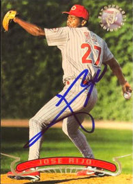 Jose Rijo Signed 1996 Stadium Club Baseball Card - Cincinnati Reds
