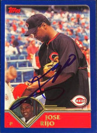 Jose Rijo Signed 2003 Topps Baseball Card - Cincinnati Reds