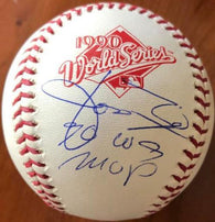Jose Rijo Signed 1990 World Series Baseball w/ 90 WS MVP Insc