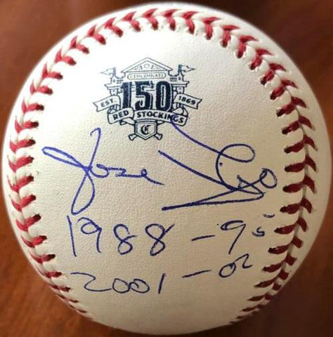 Jose Rijo Signed Cincinnati Reds 150th Anniversary Baseball 1988-95, 2001-02