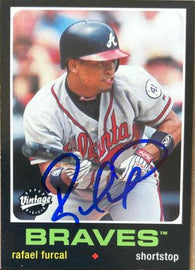 Rafael Furcal Signed 2002 Upper Deck Vintage Baseball Card - Atlanta Braves