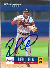 Rafael Furcal Signed 2005 Donruss Baseball Card - Atlanta Braves