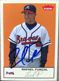Rafael Furcal Signed 2005 Fleer Tradition Baseball Card - Atlanta Braves
