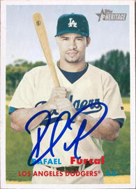 Rafael Furcal Signed 2006 Topps Heritage Baseball Card - Los Angeles Dodgers