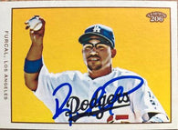 Rafael Furcal Signed 2009 Topps 206 Baseball Card - Los Angeles Dodgers