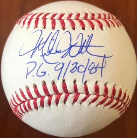 Mike Witt Signed ROMLB Baseball - Perfect Game Inscription - California Angels