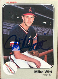 Mike Witt Signed 1983 Fleer Baseball Card - California Angels