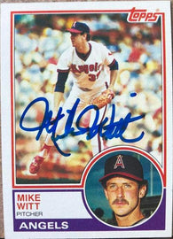 Mike Witt Signed 1983 Topps Baseball Card - California Angels