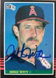 Mike Witt Signed 1985 Donruss Baseball Card - California Angels