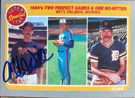 Mike Witt Signed 1985 Fleer Baseball Card - California Angels