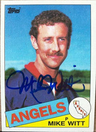 Mike Witt Signed 1985 Topps Baseball Card - California Angels