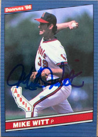 Mike Witt Signed 1986 Donruss Baseball Card - California Angels