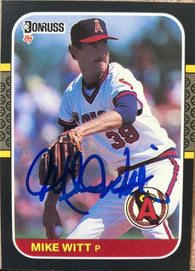 Mike Witt Signed 1987 Donruss Baseball Card - California Angels