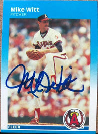 Mike Witt Signed 1987 Fleer Baseball Card - California Angels