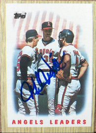 Mike Witt Signed 1987 Topps Baseball Card - California Angels Leaders