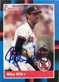 Mike Witt Signed 1988 Donruss Baseball Card - California Angels