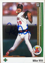 Mike Witt Signed 1989 Upper Deck Baseball Card - California Angels