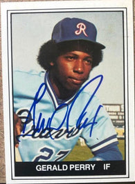 Gerald Perry Signed 1982 TCMA Baseball Card - Richmond Braves