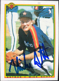 Mike Scott Signed 1990 Bowman Baseball Card - Houston Astros