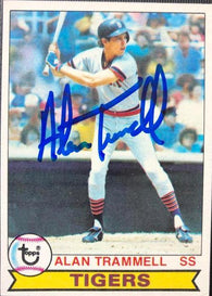 Alan Trammell Signed 1979 Topps Baseball Card - Detroit Tigers