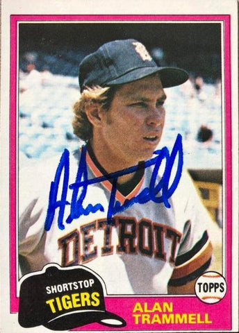 Alan Trammell Signed 1981 Topps Baseball Card - Detroit Tigers