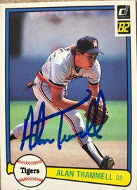 Alan Trammell Signed 1982 Donruss Baseball Card - Detroit Tigers