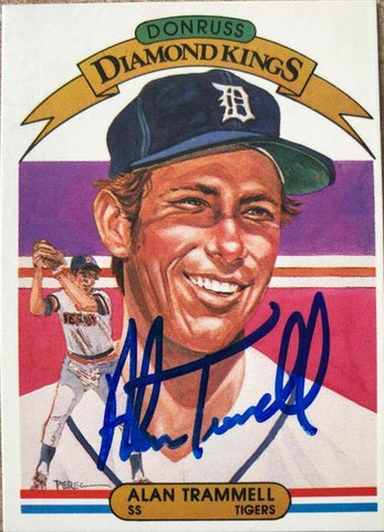 Alan Trammell Signed 1982 Donruss Diamond Kings Baseball Card - Detroit Tigers - PastPros