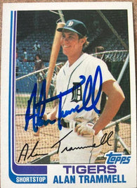 Alan Trammell Signed 1982 Topps Baseball Card - Detroit Tigers
