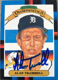 Alan Trammell Signed 1988 Donruss Diamond Kings Baseball Card - Detroit Tigers - PastPros