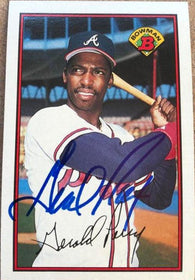 Gerald Perry Signed 1989 Bowman Baseball Card - Atlanta Braves