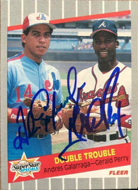 Andres Galaragga / Gerald Perry Signed 1989 Fleer Baseball Card