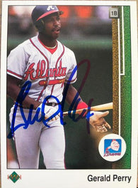 Gerald Perry Signed 1989 Upper Deck Baseball Card - Atlanta Braves