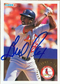 Gerald Perry Signed 1994 Fleer Baseball Card - St Louis Cardinals