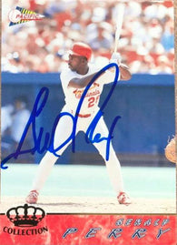 Gerald Perry Signed 1994 Pacific Crown Baseball Card - St Louis Cardinals