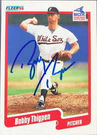 Bobby Thigpen Signed 1990 Fleer Baseball Card - Chicago White Sox