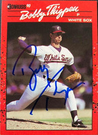 Bobby Thigpen Signed 1990 Donruss Baseball Card - Chicago White Sox