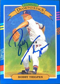 Bobby Thigpen Signed 1991 Donruss Diamond Kings Baseball Card - Chicago White Sox