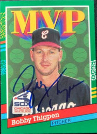 Bobby Thigpen Signed 1991 Donruss Baseball Card - Chicago White Sox MVP