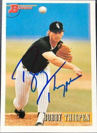 Bobby Thigpen Signed 1993 Bowman Baseball Card - Chicago White Sox