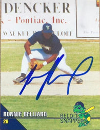 Ronnie Belliard Signed 1995 Baseball Card - Beloit Snappers
