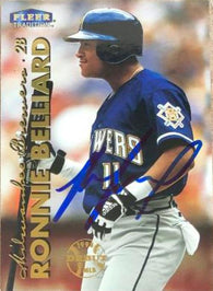Ronnie Belliard Signed 1999 Fleer Tradition Baseball Card - Milwaukee Brewers
