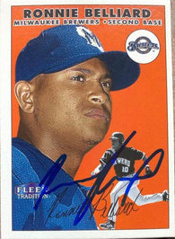 Ronnie Belliard Signed 2000 Fleer Tradition Baseball Card - Milwaukee Brewers