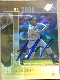 Ronnie Belliard Signed 2000 SPX Baseball Card - Milwaukee Brewers