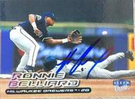 Ronnie Belliard Signed 2000 Fleer Ultra Baseball Card - Milwaukee Brewers
