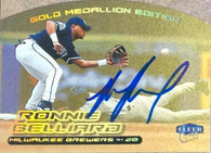 Ronnie Belliard Signed 2000 Fleer Ultra Gold Medallion Baseball Card - Milwaukee Brewers